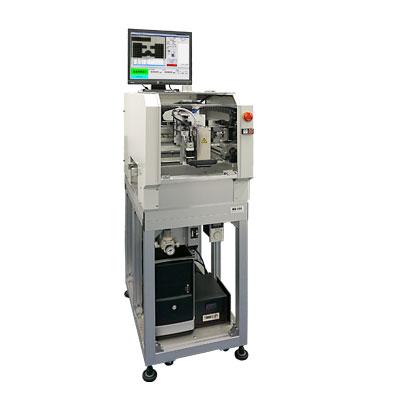 超小型自動加熱機MH-250イメージ画像 多点自動ポイント加熱を実現、部分ごとに加熱時間を制御可能、パソコン制御による簡単操作、持ち運び可能なモバイルサイズ、コンベアー仕様可